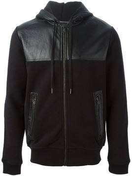 Marc By Marc Jacobs panelled panel hoodie - Black