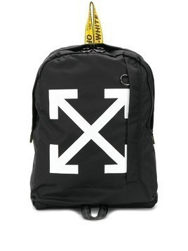 Off-White Diagonal Arrows print backpack - Black