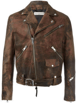 Golden Goose Deluxe Brand - Golden biker jacket - Herren - Polyester/Viscose/Calf Leather - XL - Brown