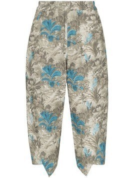 By Walid printed cropped trousers - Blue