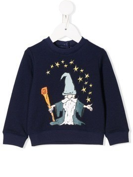 Stella McCartney Kids wizard print sweatshirt - Blue