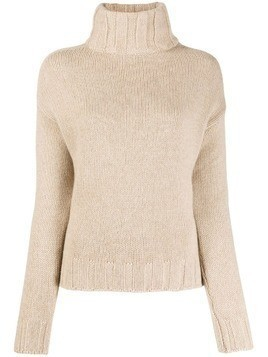 Aragona turtleneck knit jumper - Neutrals
