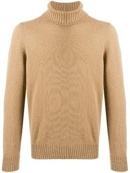 La Fileria For D'aniello turtleneck relaxed-fit jumper - Brown