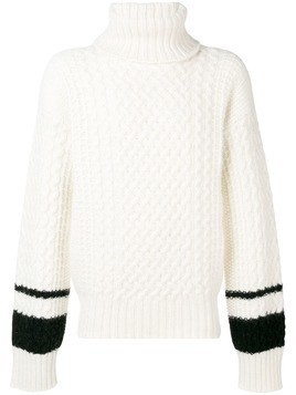 Haider Ackermann cable knit jumper - White