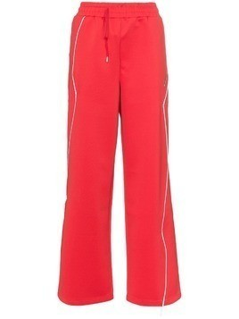 Ader Error Contrast piping track pants - Red