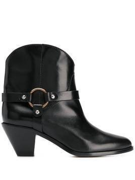 Francesco Russo strap-embellished ankle boots - Black