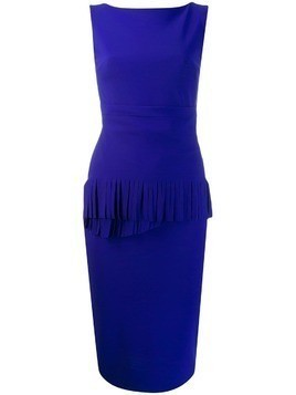 Le Petite Robe Di Chiara Boni fringed detail fitted dress - Blue