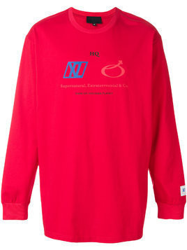Xander Zhou crew neck sweatshirt - Red
