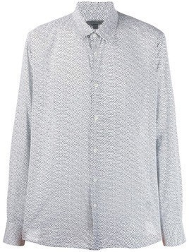 John Varvatos all-over print shirt - White