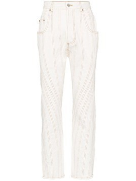 Mugler high-waisted boyfriend jeans - White