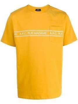 A.P.C. logo stripe crew-neck T-shirt - Yellow