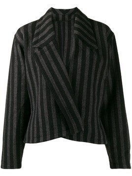 Versace Pre-Owned 1980's striped slim jacket - Black