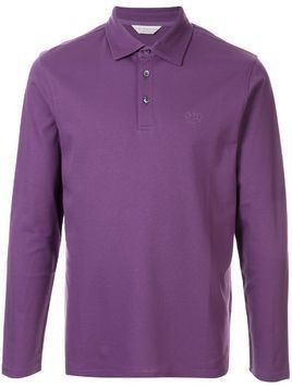 Gieves & Hawkes logo embroidered polo shirt - PURPLE