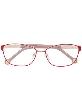 Ch Carolina Herrera rectangular glasses - Red