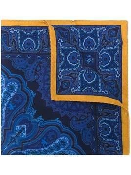 Etro paisley pocket square - Blue