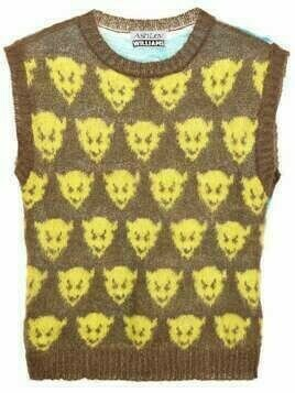 Ashley Williams devil/dolphin motif knitted vest - Brown