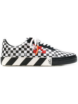 Off-White checked low top sneakers - Black