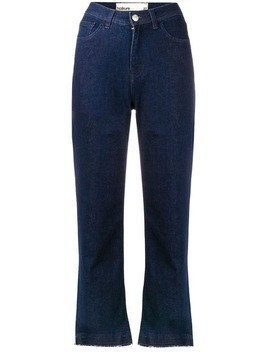 Haikure frayed hem denim trousers - Blue