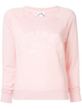 The Upside logo embroidered sweatshirt - Pink