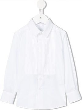Dolce & Gabbana Kids cutaway collar shirt - White