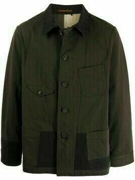 Ziggy Chen rear patchwork detail shirt jacket - Green
