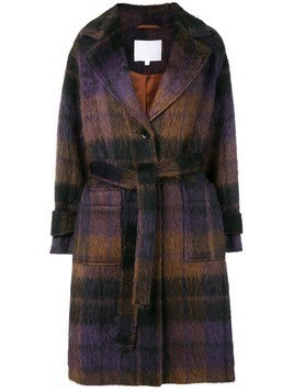 Lala Berlin Janne check coat - Brown