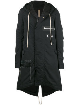 Rick Owens DRKSHDW Darkshadow raincoat - Black