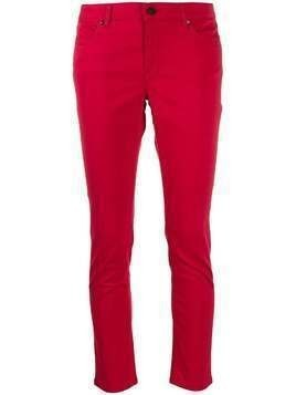 Escada Sport cropped slim trousers - Red
