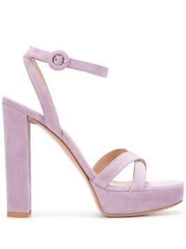 Gianvito Rossi crossover strap sandals - Purple