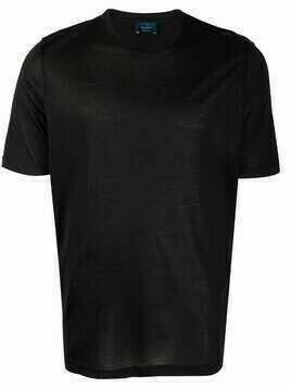 Barba crewneck silk T-shirt - Black