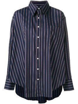Matthew Adams Dolan oversized striped shirt - Blue