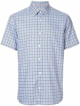 Gieves & Hawkes check short-sleeve shirt - Blue