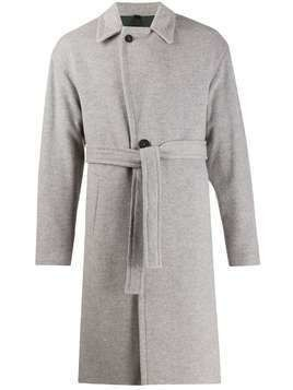 Hevo belted single breasted coat - Grey