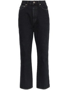 Agolde high-waisted straight jeans - Black