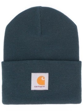 Carhartt WIP logo patch beanie - Blue