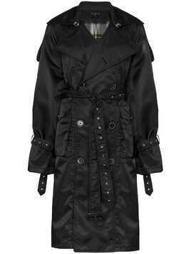 Blindness oversized trench coat - Black