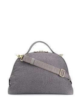 Borbonese textured print tote - Grey