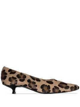 Dorateymur Cigarette 30mm leopard-print pumps - Brown