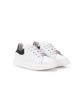 Am66 logo plaque low-top sneakers - White