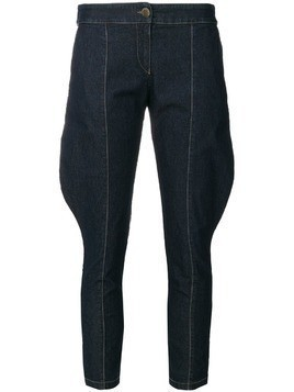 Giorgio Armani Pre-Owned super skinny cropped jeans - Blue