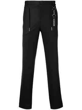 Icosae ankle zip tailored trousers - Black