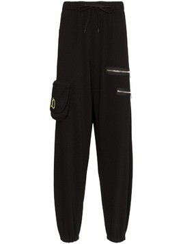 Duo multi-pocket track trousers - Black