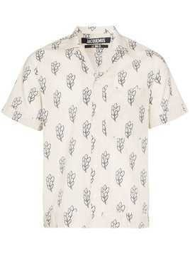 Jacquemus wheat sheaf printed short sleeved shirt - Neutrals