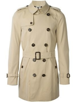 Burberry - The Sandringham mid-length trench coat - Herren - Cotton/Viscose/Calf Leather/Buffalo Horn - 50 - Nude & Neutrals