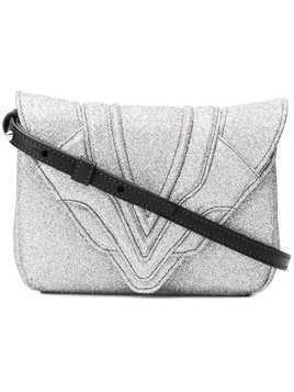 Elena Ghisellini glitter crossbody bag - Metallic