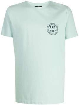 A.P.C. printed logo T-shirt - Green