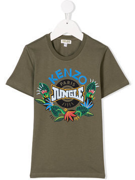 Kenzo Kids Jungle print T-shirt - Green