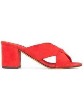 Alumnae heeled slippers - Red