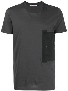 Low Brand contrast patch pocket T-shirt - Grey