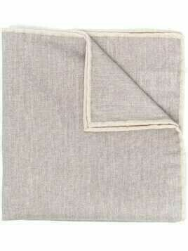 Eleventy woven pocket square - Grey